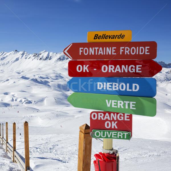 France skiing area Stock photo © vwalakte