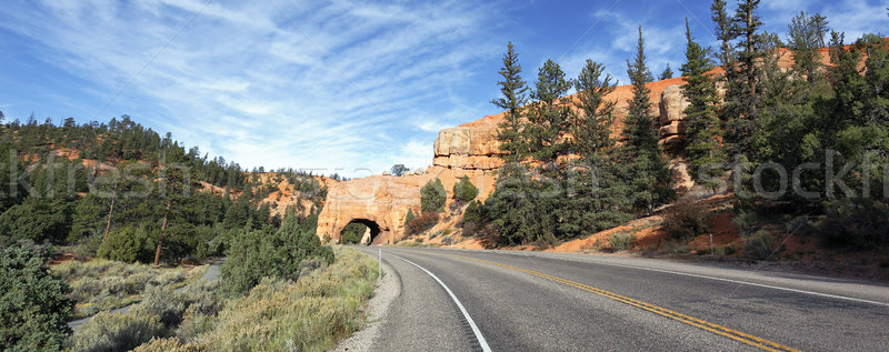 Stock photo: Road to Bryce Canyon, panoramic view