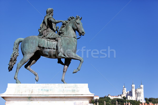 statue of Louis XIV Stock photo © vwalakte
