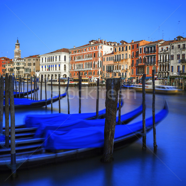 Gondolas on Grand Canal in Venice Stock photo © vwalakte