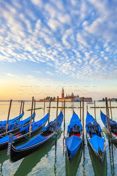 San Giorgio Maggiore church and gondolas in Venice Stock photo © vwalakte