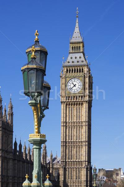 Big Ben vue Londres eau ville pont Photo stock © vwalakte