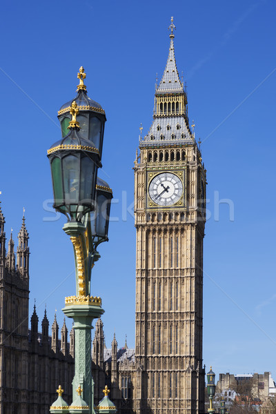 Big Ben ver Londres água cidade ponte Foto stock © vwalakte