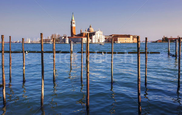 View of San Giorgio maggiore at sunset Stock photo © vwalakte