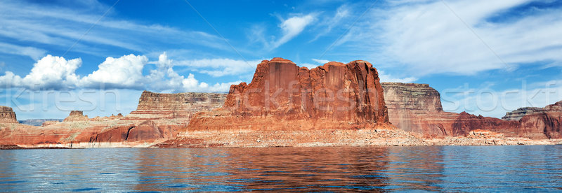 panoramic view of the lake Powell Stock photo © vwalakte