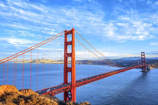 Ver famoso Golden Gate Bridge San Francisco Califórnia EUA Foto stock © vwalakte