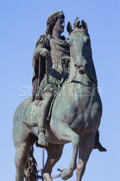 Famous statue of Louis XIV in Lyon Stock photo © vwalakte