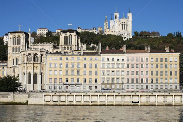 リヨン バシリカ 大聖堂 川 フランス 教会 ストックフォト © vwalakte