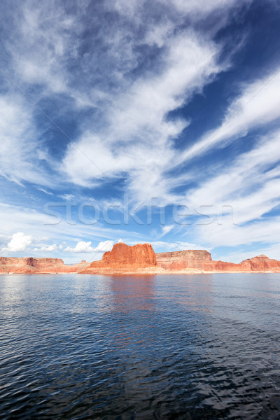 vertical view of the lake Powell Stock photo © vwalakte