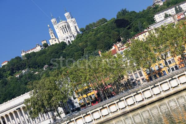 view of Lyon and Saone River Stock photo © vwalakte