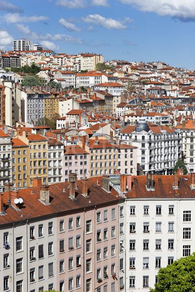 Cidade Lyon verão colorido edifícios viajar Foto stock © vwalakte