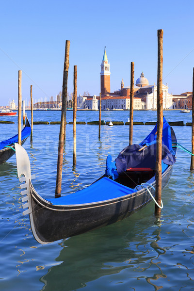 Grand Canal with gondolas in Venice Stock photo © vwalakte