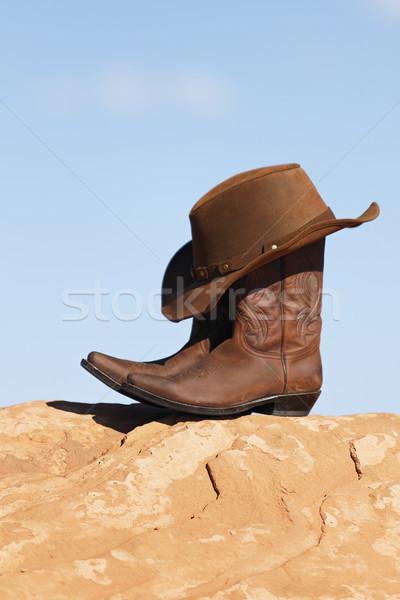 brown cowboy hat Stock photo © vwalakte