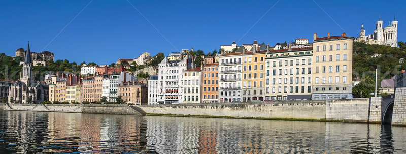 Panoramic view of Lyon Stock photo © vwalakte