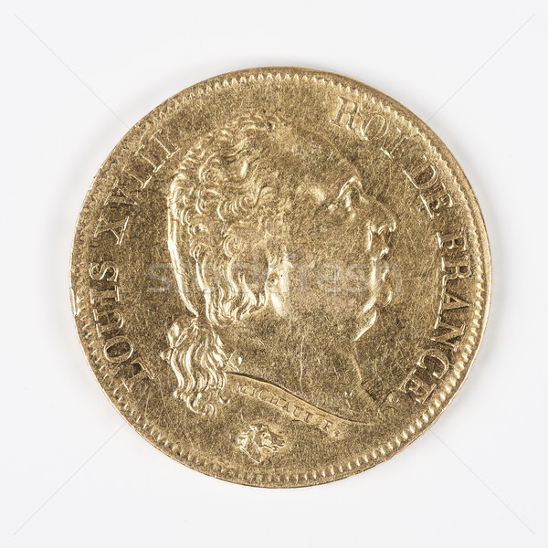 gold coin with Louis XVIII Stock photo © vwalakte