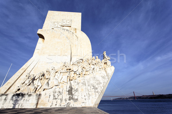view of famous Padrao dos Descobrimentos Stock photo © vwalakte