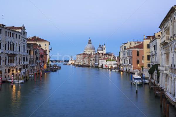 Görmek kanal bazilika Venedik İtalya Stok fotoğraf © vwalakte