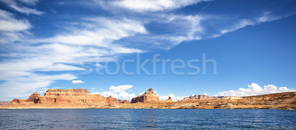 Panoramic view of the famous Lake Powell Stock photo © vwalakte