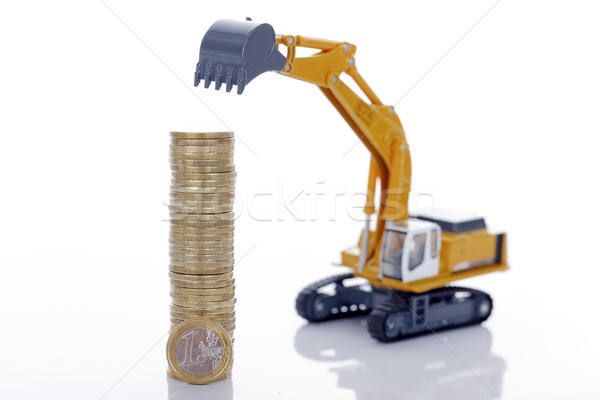 euro coins with digger Stock photo © vwalakte