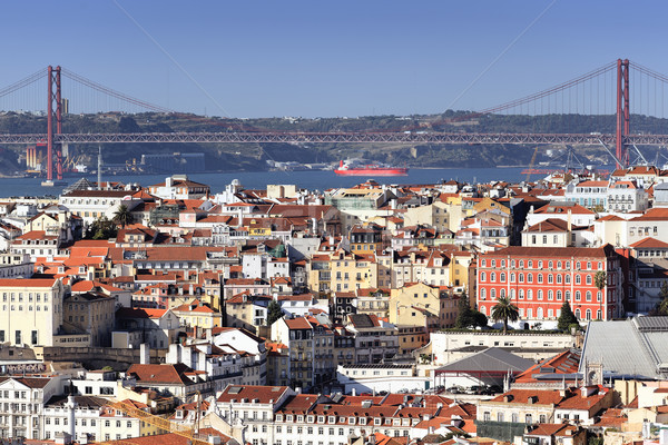 Panoramic view of Lisbon Stock photo © vwalakte