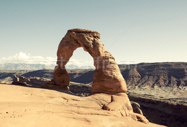 Delicate Arch with special photographic processing Stock photo © vwalakte