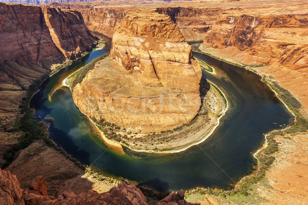 Horizontal view of famous Horseshoe Bend Stock photo © vwalakte