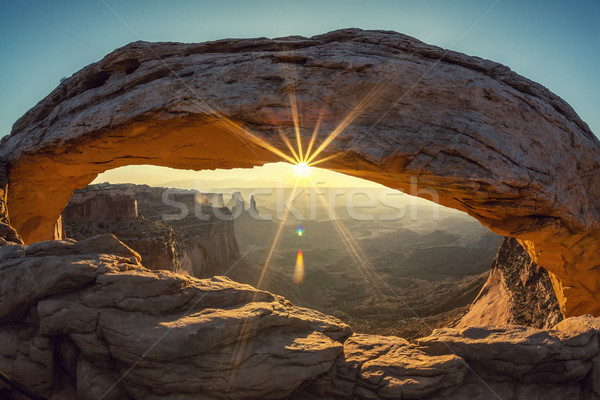 Mesa arch, special photographic processing Stock photo © vwalakte