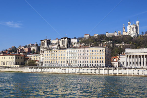 Ver Lyon rio França céu cidade Foto stock © vwalakte