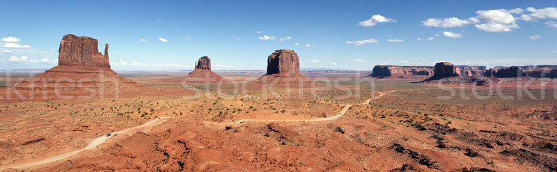 Panoramic view of Monument Valley Stock photo © vwalakte
