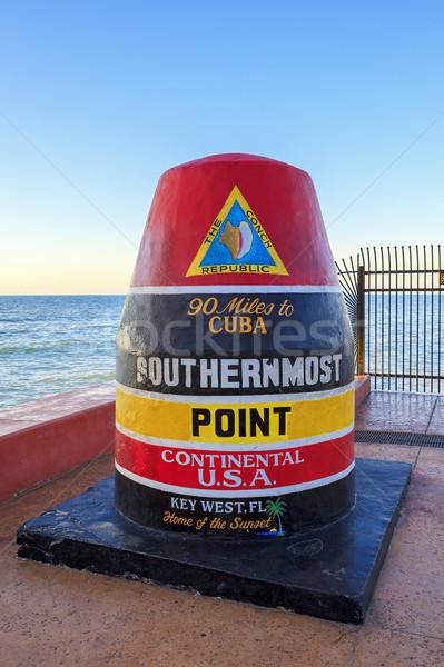 Florida boa segno chiave ovest Foto d'archivio © vwalakte