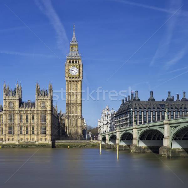 мнение большой Бен парламент домах Лондон воды Сток-фото © vwalakte
