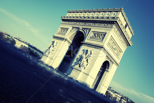 view of Arc de Triomphe Stock photo © vwalakte
