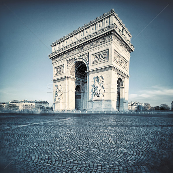 Arc de Triomphe with special photographic processing Stock photo © vwalakte