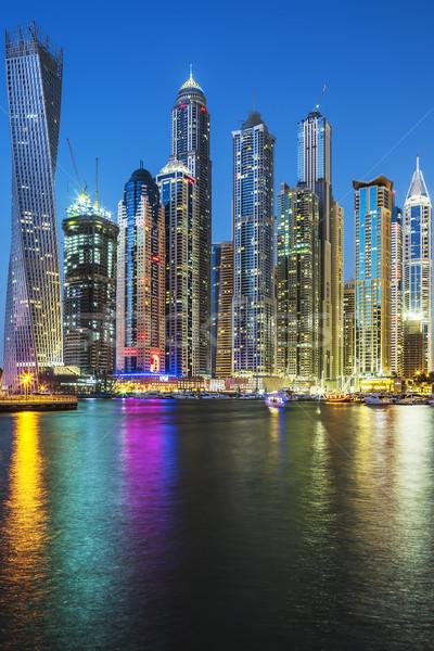 Vertical view of Skyscrapers in Dubai Stock photo © vwalakte