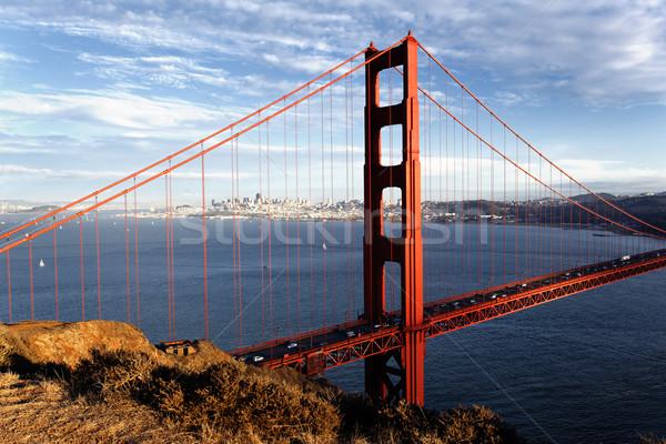 View Golden Gate Bridge San Francisco California USA cielo Foto d'archivio © vwalakte