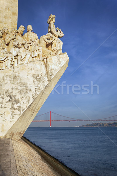 famous monument in Lisbon Stock photo © vwalakte