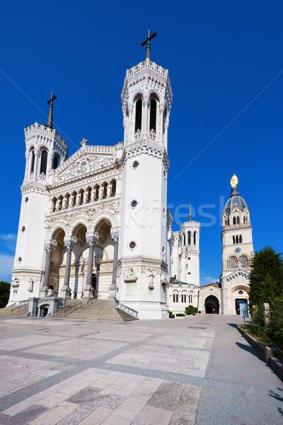 Notre Dame de Fourviere in Lyon Stock photo © vwalakte
