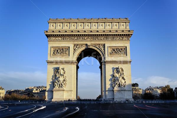мнение известный Триумфальная арка Париж Франция здании Сток-фото © vwalakte