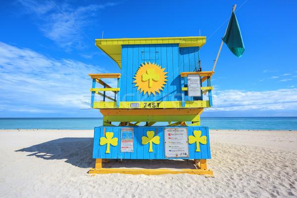 Miami strand badmeester huis Florida beroemd Stockfoto © vwalakte
