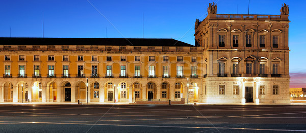 famous commerce square at Lisbon by night Stock photo © vwalakte