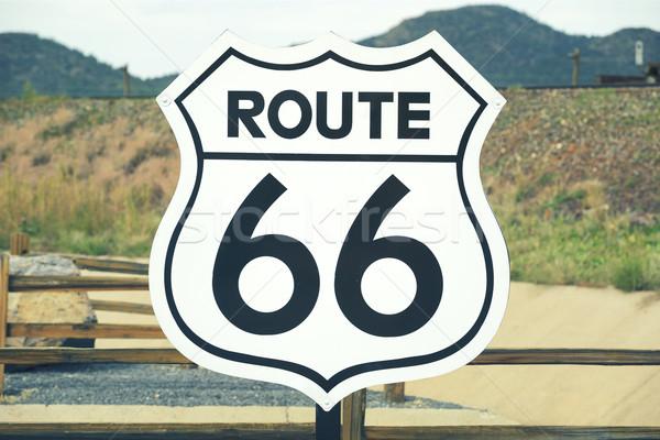 Route 66 знак живописный мнение исторический дороги Сток-фото © vwalakte