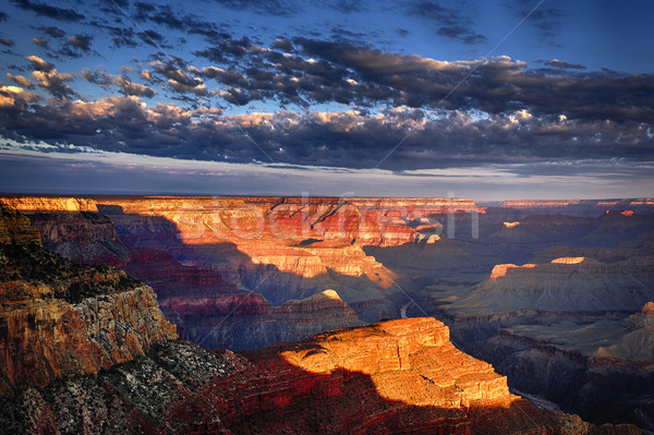 Horizontal ver Grand Canyon nascer do sol pôr do sol viajar Foto stock © vwalakte