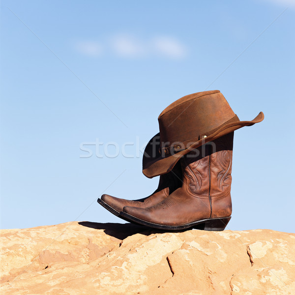 boots and hat outdoor Stock photo © vwalakte