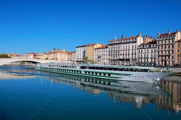 Kilátás Lyon város folyó Franciaország épület Stock fotó © vwalakte