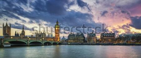 Сток-фото: панорамный · мнение · Лондон · закат · рук · городского