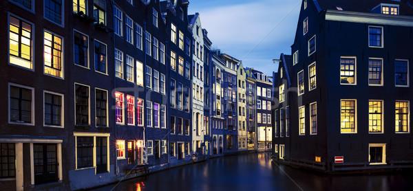 Amsterdam at night Stock photo © vwalakte