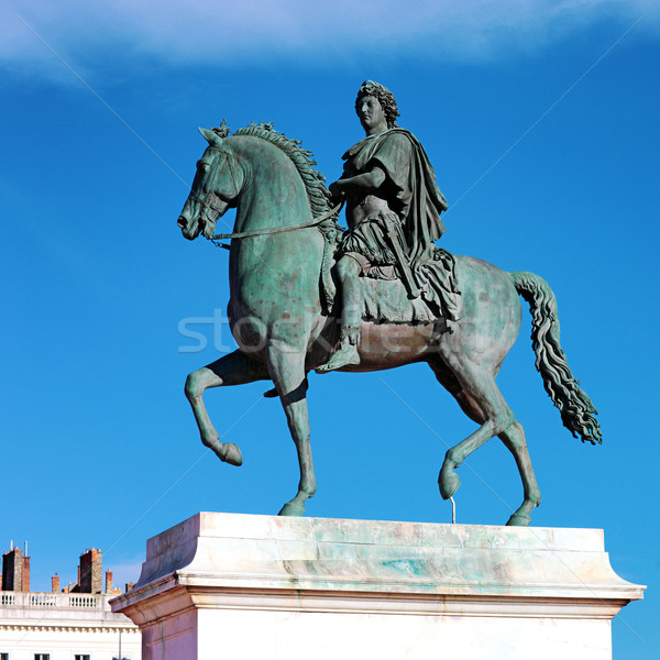 Equestrian statue of Louis XIV Stock photo © vwalakte