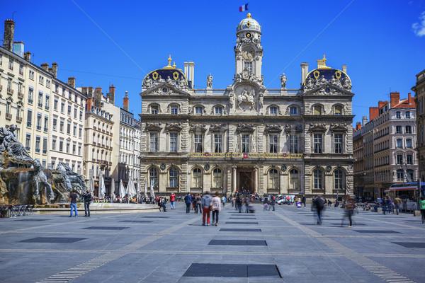 Terreaux square in Lyon city Stock photo © vwalakte