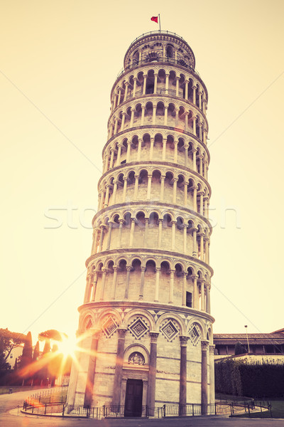 Pisa leaning tower, special photographic processing Stock photo © vwalakte