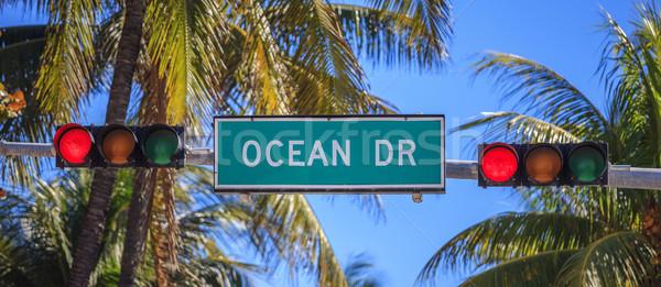 улице подписать улице океана дисков Майами юг Сток-фото © vwalakte